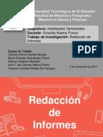 Presentación Redacción de Informes