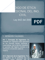 Codigo de Ética Profesional Del Ing