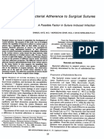 Bacterial Adherence to Surgical Sutures