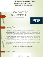 Fenômenos de Transporte II - Revisao