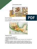 Características de La Cultura Mexica o Azteca