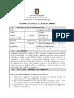 Programa Sociologia Del Agua 2014