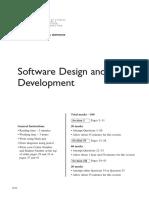 HSC Software Design & Development Past Paper 2016
