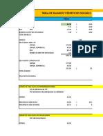 Presupuesto Tabla Salarial