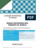 UFCD 3257 Alteracoes Respiratorias