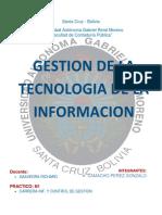 CARATULA TECNOLOGÍA  DE LA INFORMACION