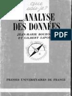 Boruche J.-m., Saporta G. Lanalyse Des Données