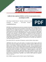 Analise de Duas Sequencias Didaticas Com Base Nos Pressupostos Teorico-metodologicos Do Isd