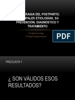 Expo Del Articulo, Hemorragia del postparto. Principales etiologías, su Prevención, diagnóstico y Tratamiento