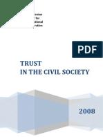 Trust in the civil society