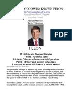 Daniel T. Goodwin Felony Fraud Evidence Pack