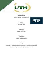 Investigar y Desarrollar Las Diferencias Entre La Evolución Emergente y La Evolución Orgánica Desde El Punto de Vista Filosófico.