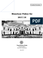 Monetary Policy (in Nepali)--2017-18 (in English) (Full Text)-New