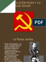 LA REVOLUCIÓN RUSA Y LO QUE SIGUIÓ.ppt