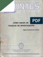 Cómo Hacer Un Trabajo de Investigación - Felipe Portocarrero Suárez