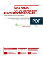 Infancia Como Indicador de Bienestar en Contextos Locales.
