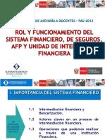 rol y funcionamiento del sistema financiero