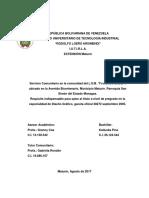 Informe de Servicio Comunitario - IUTIRLA