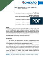 014 Adm Importância Das Redes Sociais Para as Pequens e Médias Empresas