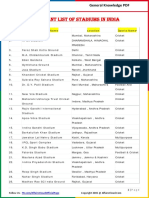 Important List of Stadiums in India by AffairsCloud.pdf