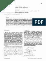 Modelo Matematico de La Reduccion de Particula en Molinos de Bolas