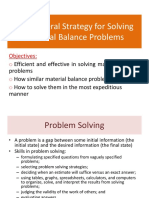 Week 2 - The General Strategy for Solving Material Balance Problems