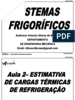 Aula 2 - Carga Térmica Camaras Frigorificas