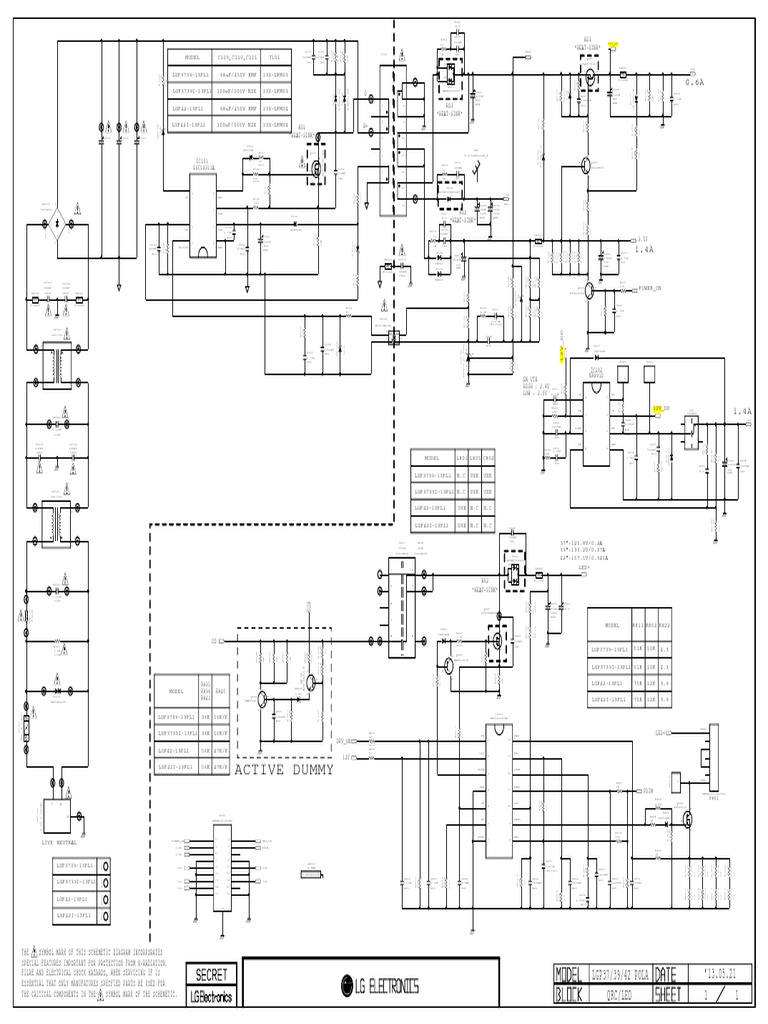 Led Tv Power Supply Schematic Diagram