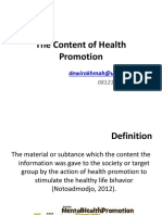 New_The Content of Health Promotion