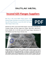 Inconel 625 Flanges Suppliers