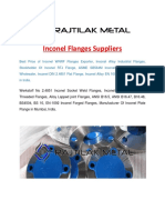 Inconel Flanges Suppliers