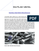 Stainless Steel Bolts Manufacturer