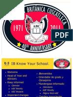 IB Know Your School - English
