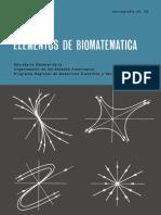 Elementos de Biomatemática (Por Alejandro B. Engel Et Al)