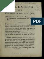LAVOISIER Reflexiones Sobre La Instrucción Pública.