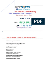Spiritsofts provides Online Training for ORACLE APPS FINANCIAL in HYDERABAD INDIA, CANADA, USA, UK, UAE, AUSTRALIA  and  many more.