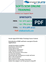 Spiritsofts provides Online Training for ORACLE SCM in HYDERABAD INDIA, CANADA, USA, UK, UAE, AUSTRALIA  and  many more.
