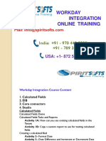 Spiritsofts provides Online Training for  Workday Integration in HYDERABAD INDIA, CANADA, USA, UK, UAE, AUSTRALIA  and  many more.