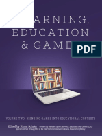 Learning and Education Games Volume Two Bringing Games Into Educational Contexts