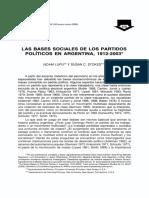Lupu y Stokes - Las Bases Sociales de Los Partidos Políticos en Argentina 1912-2003 (1)
