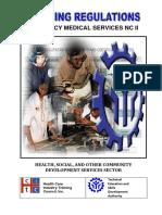 Tr Ems Nc II - Tesda Ncii Ems Training Regulations