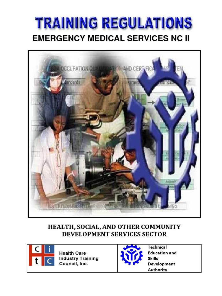 Tr Ems Nc II - Tesda Ncii Ems Training Regulations | Occupational