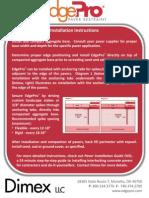 Dimex EdgePro Paver Restraint Installation