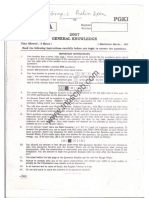 2007 TNPSC Group 1 Preliminary Question Paper