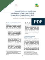 Estrategia de Monitoreo Social Como Instrumento en La Prevención de La Desnutrición Crónica Infantil