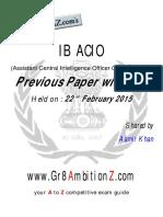 IB ACIO Previous Paper 2014-15