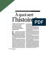 BOUCHERON À QUOI SERT L'HISTOIRE? ENTRETIEN 2016
