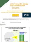 Development of renewable energy sources in Deutschland 2009