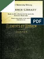 Elements of Hebrew