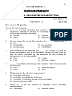 BHArathiar BBA VI sem Service Marketing Model Papers